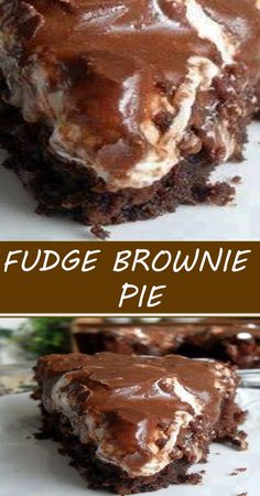 Fudge Brownie Pie, Brownie Recipes, Chocolate Cobbler, Chocolate Desserts, Tart Recipes, Sweet Recipes, Yummy Snacks, Delicious Desserts, Peanut Butter Desserts