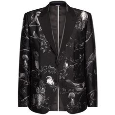 Dolce & Gabbana Midnight Forest Print Blazer (€3.125) ❤ liked on Polyvore featuring men's fashion, men's clothing, men's sportcoats and dolce gabbana mens clothing