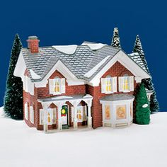 """Department 56: Products - """"Farm House"""" - View Lighted Buildings retired illage"""