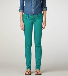 teal jeans @ american eagle