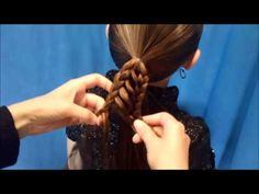 """Please visit our site for more hairstyle ideas:  http://princesshairstyles.com    This """"stripe braid ponytail"""" is a variation of our overlay braid hairstyle which can be found here:  http://www.youtube.com/watch?v=2E-gKAUYckE    This braided ponytail hairstyle looks quite intricate, but is actually pretty easy and quick to complete.  As shown toward..."""