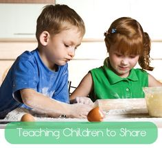 Teaching Children to Share - Early Lessons in Cooperation