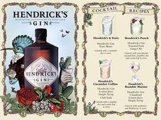 funky branding for Hendrick's Gin -  und außerdem: besser geht Gin Tonic nicht!!