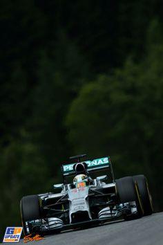 Lewis Hamilton, Mercedes Grand Prix, Formule 1 Grand Prix van Oostenrijk 2014, Formule 1