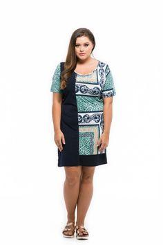 modré vzorované šaty pre moletky Shirt Dress, T Shirt, Spring Summer, Dresses, Fashion, Supreme T Shirt, Vestidos, Moda, Shirtdress