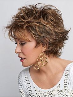 Browse our Short Wigs for women. Short wigs above the shoulder to bobs and boys cuts in straight, wavy to curly styles. Short Wigs, Short Curly Hair, Short Hair Cuts, Curly Hair Styles, Natural Hair Styles, Pixie Cuts, Raquel Welch Wigs, Short Shag Hairstyles, Layered Hairstyles