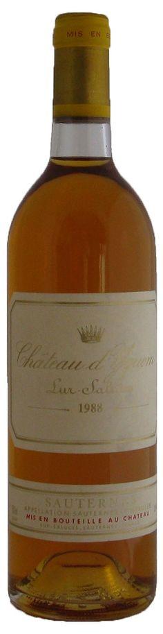 Chateau d'Yquem 1er Grand Cru Classe, Sauternes 1988