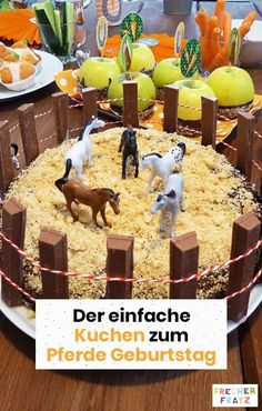 Recipe for a birthday horse cake - Kuchen Ideen :) Horse Birthday, It's Your Birthday, Birthday Parties, Cake Birthday, Dessert Aux Fruits, Horse Cake, Black Sesame Ice Cream, Cake Games, Pumpkin Spice Cupcakes