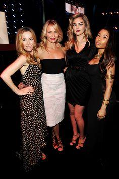 Leslie Mann, Cameron Diaz, Kate Upton, and Nicki Minaj at the MTV Movie Awards.