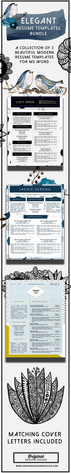 Professional Resume Templates For Microsoft Word. Features 1 And 2