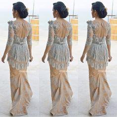 Back detail. Wedding gown. Wedding dress. Songket by Verakebaya ❤️