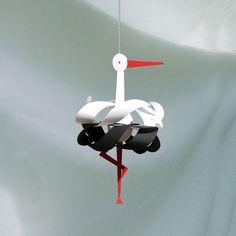 Handcrafted mobile - Stork Single