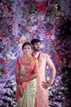Indian Engagement Outfit, Indian Engagement Photos, Engagement Saree, Engagement Hairstyles, Couple Wedding Dress, Indian Wedding Couple, Wedding Couples, Indian Marriage Dress, Wedding Dresses Men Indian