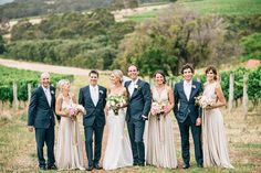 A gorgeous colour palette for this wedding party. elegant bridal party - photo by Natasja Kremers ruffledblog.com: