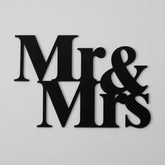 #dekoracje na ścianę Mr & Mrs