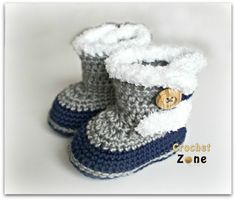 fur topped baby booties- free pattern