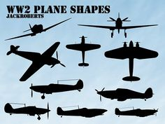 WWII Planes Outlines