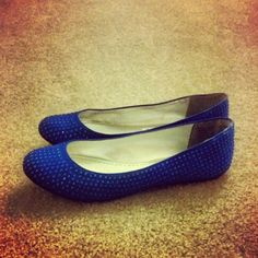 Royal blue wedding shoes. Bridesmaids are wearing the white verison of theses :)