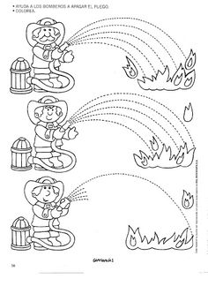 Fire Safety Worksheets Preschool Fire Safety Week Worksheet for Kids 1 Tracing Worksheets, Kindergarten Worksheets, Worksheets For Kids, Fire Safety Week, Fire Prevention Week, People Who Help Us, Community Helpers Preschool, Fine Motor, Preschool Activities