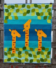Giraffe Love baby quilt by Sew Fresh Quilts: Life's a Jungle, Baby....