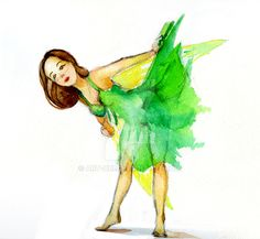 Forest Fairy - watercolour sketch by art-ori.deviantart.com on @DeviantArt