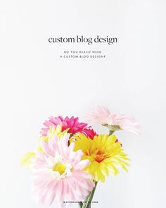 A custom blog design is a website that is built from scratch with the layout and graphic elements designed to best highlight the site's content.
