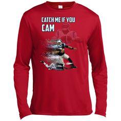 e9c4a2a5c Cam Newton Panthers Custom Designed Fan Tall Long Sleeve Moisture Absorbing  Shirt