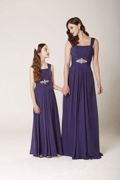 Dress to impress in our ever so elegant DESTIN gown - We love the jewel applique detail on the waistband! Style 0230 - A perfect dress for your junior bridesmaids too - Style Winter Bridesmaid Dresses, Winter Bridesmaids, Wedding Bridesmaids, Bridal Dresses, Junior Bridesmaids, Little Girl Dresses, Girls Dresses, Prom Dresses, V Dress