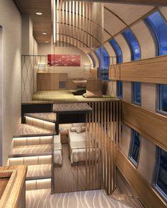 Japan's new luxury cruise train  http://www.theverge.com/2014/7/17/5912341/japan-luxury-cruise-train