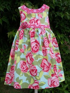 GIRLS DRESS PATTERN The Lillie Mae Dress sizes par TheFreckledPear