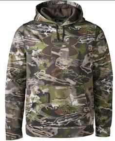 ca3e50a998f7 UNDER ARMOUR Hoodie UA Fleece Camo Big Logo Sweatshirt Mens M L XL  NWT DEFECT