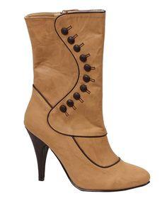 Ellie Shoes: Tan Ruth Boot