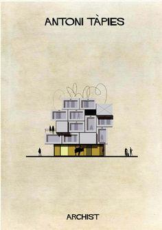 Federico Babina, en su serie Archist, ha fantaseado con edificios. ¿Qué construcciones hubieran resultado de una incursión en la arquitectura de artistas como Picasso, Mondrian, Malévich o Miró?
