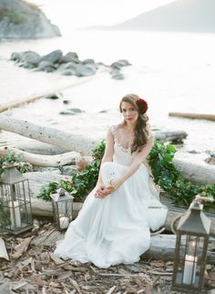 Published: Rustic Red + Seaside green as seen on SMP  Fleur de Lis Events Read More: http://www.stylemepretty.com/canada-weddings/2014/12/24/rustic-red-green-seaside-inspiration/