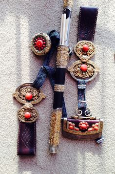 Mongol knife set, 19th C. Private collection