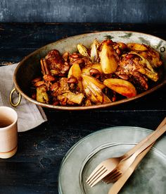 Australian Gourmet Traveller recipe for chicken, quince, lemon and almond tagine.