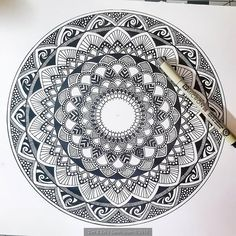 Happy Mandala Monday! (let's make that a thing btw. I started this one last night while binge watching Wild Wild Country. Anybody else watching this? It's pretty crazy but I find myself siding with the Rajneeshees until they get a little too crazy. It's a really well done documentary either way! #netflix #monday #mandalaart