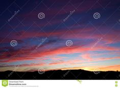 Brilliant Pink Cloud Sunset Stock Image - Image of fade, bright: 75645833 Blue Sky Clouds, Vermont, Silhouette, Bright, Stock Photos, Sunset, Green, Image, Art