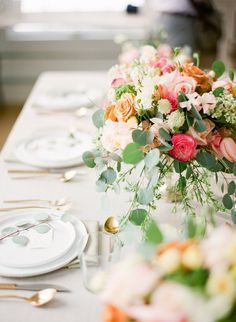 Pink and Peach Wedding Flowers | photography by http://www.kristenlynne.com/