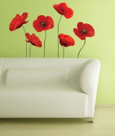 RoomMates RMK1729GM Poppies at Play Peel and Stick Giant Wall Decals « Cheap Apartment Decorating