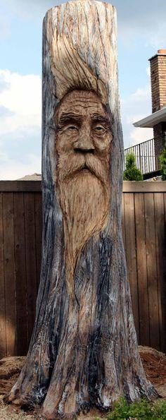 Awesome tree stump art