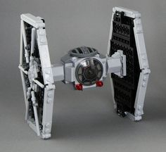 Microfig scale TIE Fighter by Trooper10.0 on Flickr