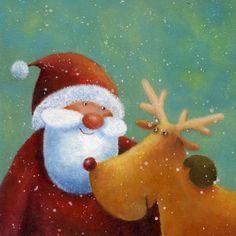 Els animals celebren el Nadal / Los animales celebran la Navidad / The animals celebrate Christmas Christmas Deer, Christmas Clipart, Vintage Christmas Cards, Christmas Printables, Christmas Holidays, Christmas Crafts, Christmas Decorations, Christmas Ornaments, Illustration Noel