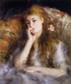 Young Woman Seated -  Pierre Auguste Renoir - circa 1877