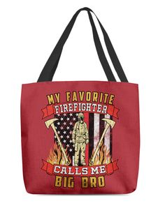 My Favorite Firefighter Calls Me Big Bro Mugs - True Red firefighter outfits, gift ideas for firefighter, firefighter theme #husnandgifts #militarydad #firefighter, dried orange slices, yule decorations, scandinavian christmas