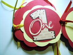 Pooh Bear I AM ONE Birthday Highchair Banner. $18.00, via Etsy.