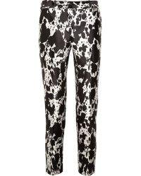 Michael Kors Printed Silk and Wool blend Pants - Lyst