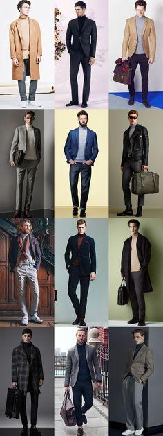 Men's Roll Necks Outfit Inspiration Lookbook