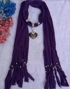 Popular Jewelry Accessories with Scarf Wholesale Canada Purple pendant scarves from www.jewelryscarfcanada.com