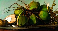 Coconuts painting by Francisco Oller (June 17, 1833 – May 17, 1917 Puerto Rico). Oller is the only Latin American painter ...